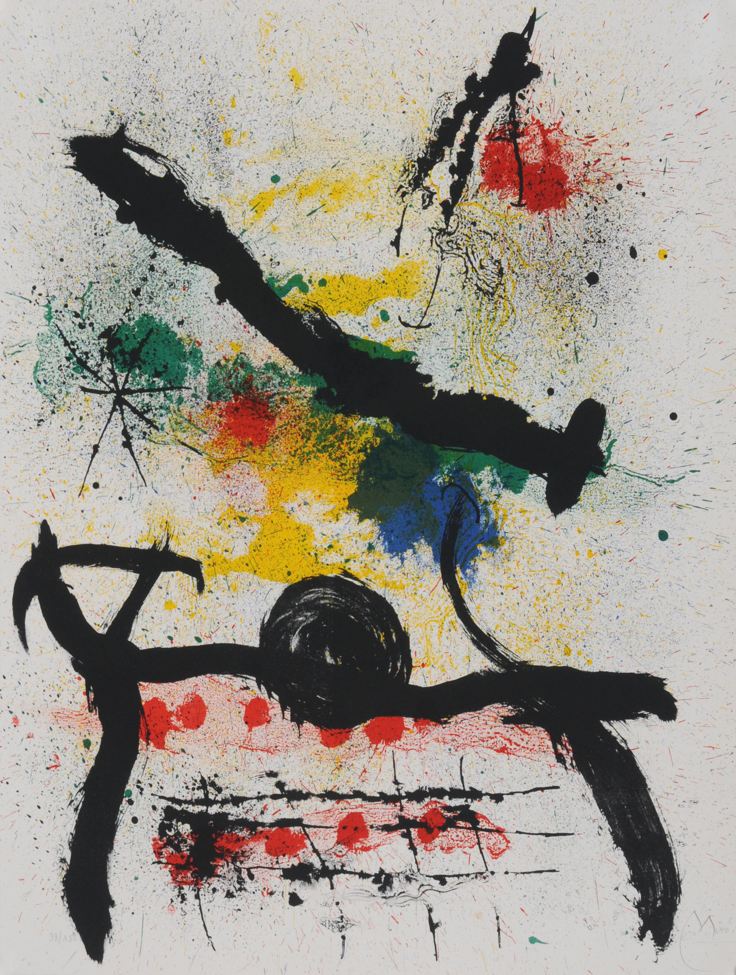 "Miró Joan, Untitled, 1964, from ""Graphikmappe Hochschule St. Gallen"""