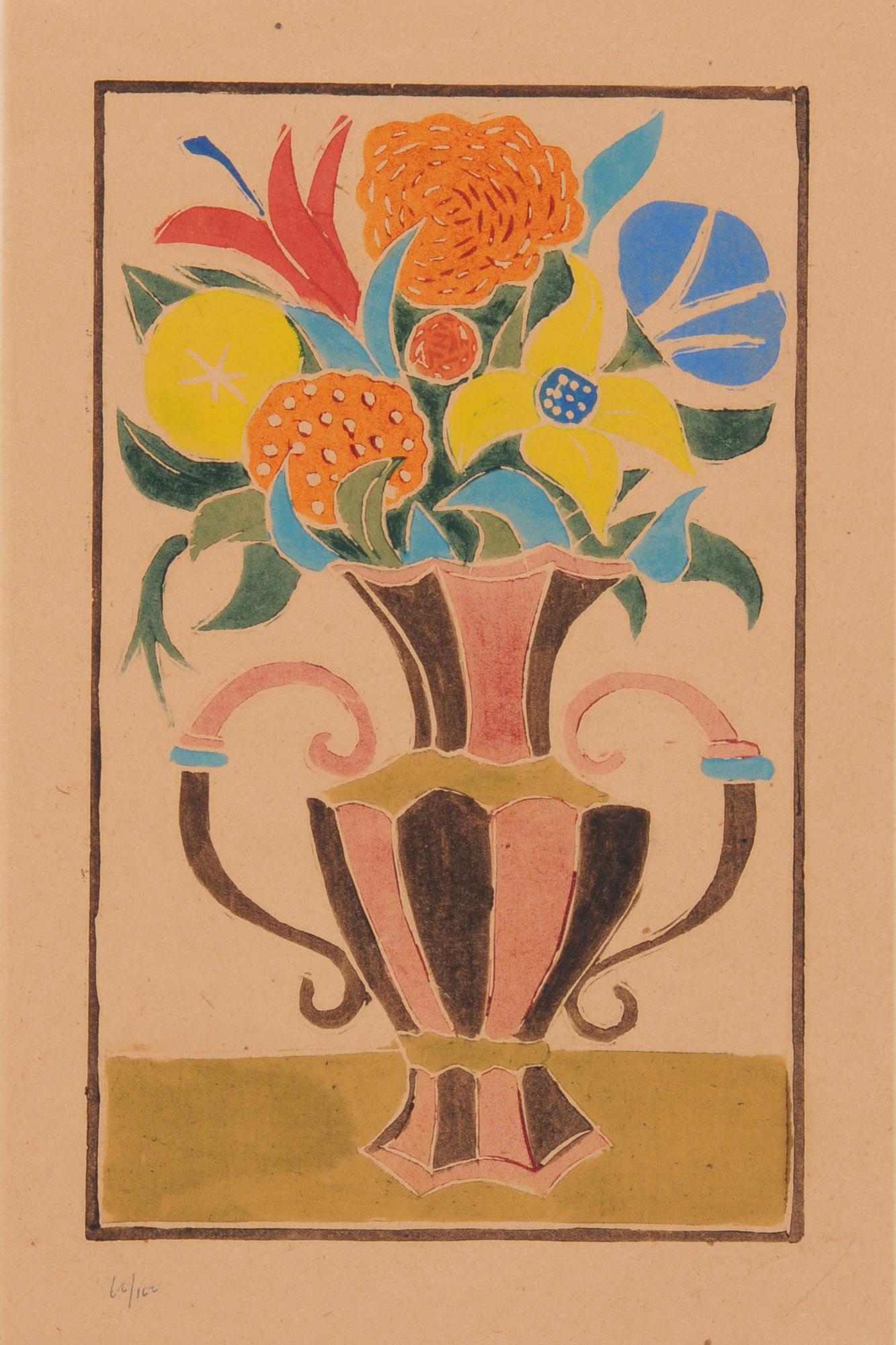 Derain André, Bouquet de fleurs dans une vase