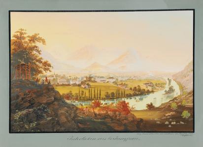 Bleuler Johann Ludwig, Interlaken vers la Jungfrau