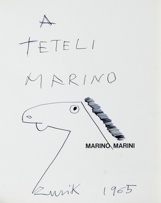 Marini Marino, Catalogue Raisonné. Franco Russoli. Marino Marini, pitture e disegni