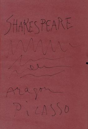 Picasso Pablo, Book. Louise Aragon. Shakespeare
