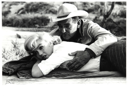 "Haas Ernst, Marilyn Monroe and Clark Gable at the Set of ""The Misfits"", Nevada"