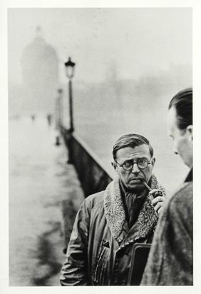 Cartier-Bresson Henri, Jean-Paul Sartre and Fernand Pouillon