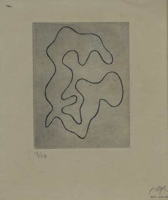 Arp Jean, 2 sheets: Untitled