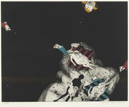 Araki Tetsuo, 2 sheets: Basse marée, 1971; Le rêve d'hiver