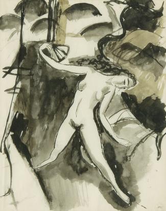 Barraud Maurice, Femme nue allongée