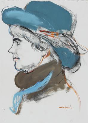 Comensoli Mario, 5 sheets: Frauenportraits, 1980's