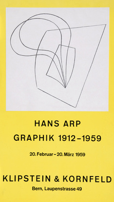 Arp Jean, Plakat. Pflanzlich-architektonisch, Hans Arp Graphik 1912- 1959, Klipstein & Kornfeld