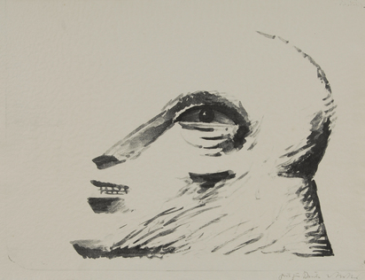 Antes Horst, 2 sheets: Head, 1975; Strichfigur, 1968