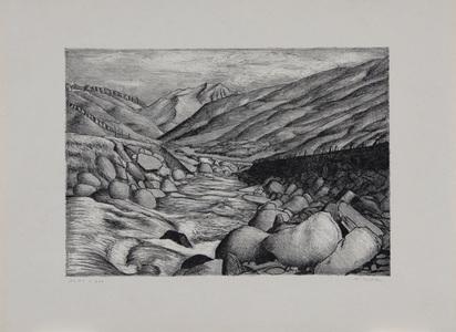 """Amiet Cuno, 4 sheets: Ritzlihorn; Tosende Aare; Steinlauenenhorn; Haslital, from """"Schönheiten der Alpenstrassen, 2. Folge"""""""