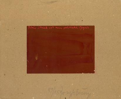 Beuys Joseph, 2 Werke: Klaus Staeck gebohnert