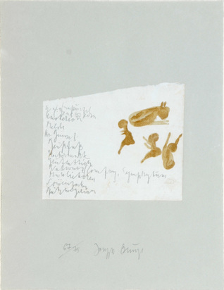 "Beuys Joseph, Kalb mit Kinder, from ""Suite Schwurhand"""