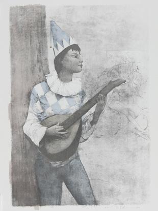 Bachmann Otto, 4 Blätter: Zirkus, 1989 (2); Tänzerin, 1976; Mandolinenspieler, 1989