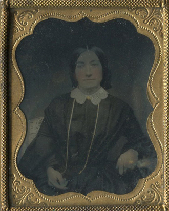 Daguerreotypie, British Potographer C. Wherrett. Portrait of a Women