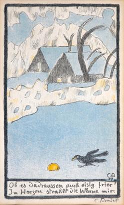 Amiet Cuno, Winter Landscape, 1951