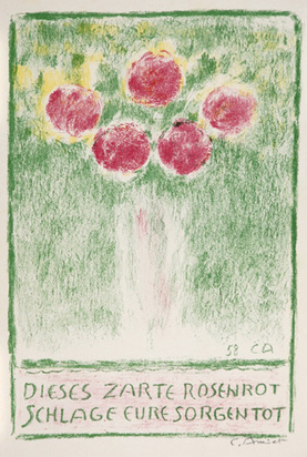 Amiet Cuno, Flower Vase with Roses, 1959