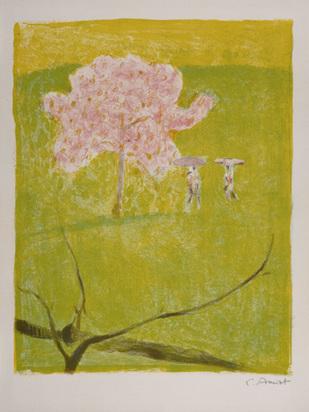 Amiet Cuno, Blühender Apfelbaum auf grüner Wiese