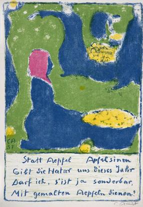 Amiet Cuno, Obsternte, 1958