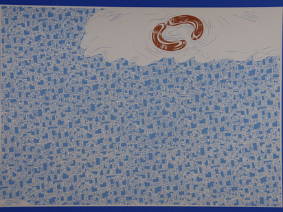 Attersee Christian Ludwig, 2 sheets: Untitled, 1970