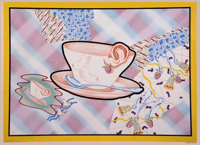 """Attersee Christian Ludwig, 2 Blätter: Ohrmuschelschale; Vier Beiträge zur klassischen Schönheit, aus """"Attersees Schönheit"""", 1970"""
