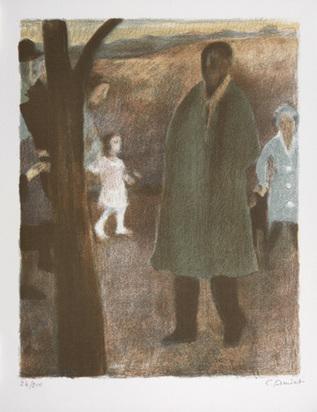 Amiet Cuno, Der Spaziergang, 1954