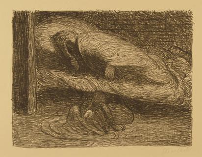 """Barlach Ernst, Träumender Jüngling, from """"Der Tote Tag"""", 1912"""