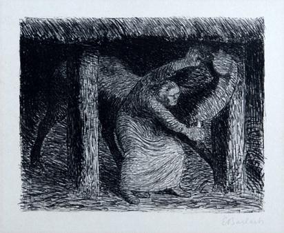 """Barlach Ernst, Die Mörderin, from """"Der tote Tag"""", 1912"""