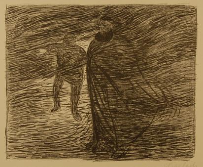 """Barlach Ernst, Stürzende Frau, from """"Der tote Tag"""", 1912"""