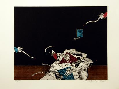 Araki Tetsuo, 2 sheets: Basse marée; Le rêve d'hier, 1971