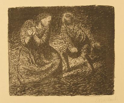 """Barlach Ernst, Der Rufende, from """"Der tote Tag"""", 1912"""