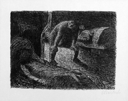 """Barlach Ernst, Der Alb, from """"Der tote Tag"""", 1912"""