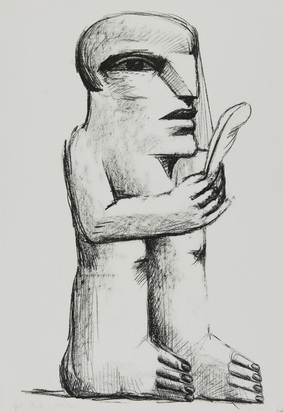 Antes Horst, 2 sheets: An Pablo Picasso zum 25.10.1971; Untitled