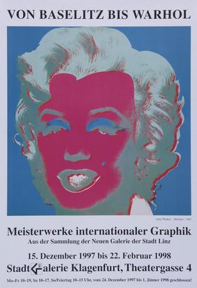 Ausstellungsplakate, 43 posters: G. Dokoupil; I. Kabakov; R. Horn;  M. Merz; K. Schifferle; R. Signer; N. St. Phalle; L. Polk Smith; A. Warhol; T. Wesselmann etc.