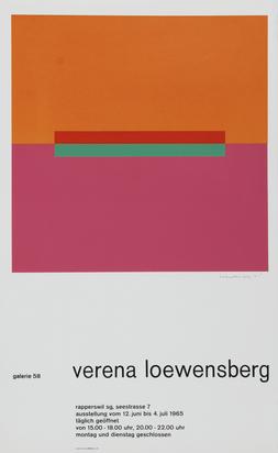 Ausstellungsplakate, 47 posters: G. Braque; J. Bartlett; Fischli/Weiss; C. Graeser; R. Graubner; R. Grooms; V. Loewensberg; K. Smith; M. Trockel; H. Wiggli etc.