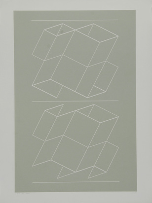 "Albers Josef, Weg VII, from ""White Embossings on Gray"""