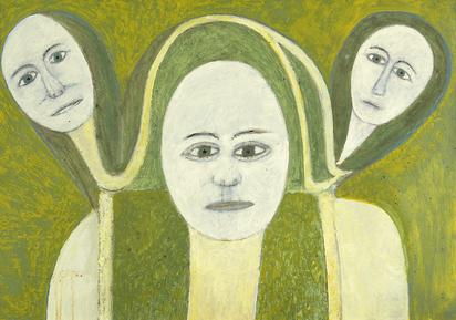 Sekulic Sava, Mutter und zwei Töchter