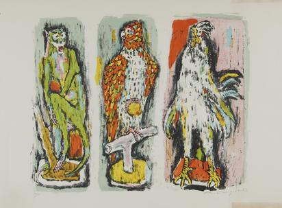 Carigiet Alois, Zoologisches Triptychon