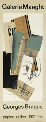 Braque Georges, 2 posters: Oiseau des fôrets, G. Braque, oeuvre graphique Galerie Nicolas Rauch, Genève; Galerie Maeght, Georges Braque, papier collés 1912-1914