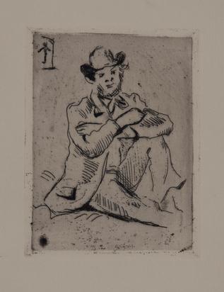 """Cézanne Paul, Portrait du peintre A. Guillaumin, from """"Peintres impressionistes"""""""