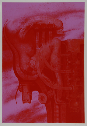 """Giger H.R., Sheet from """"Trip-Tychon"""""""