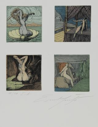 Fuchs Ernst, 2 sheets: Untitled