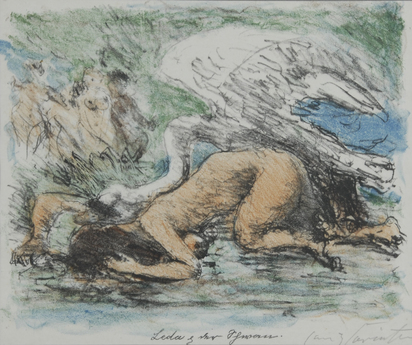 "Corinth Lovis, 3 sheets from ""Liebschaften des Zeus"""