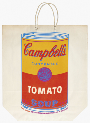 Warhol Andy, Campbell's Tomato Soup on Shopping Bag