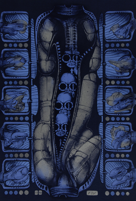 """Giger H.R., Sheet from """"A rhesus positiv"""""""