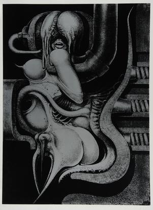 "Giger H.R., Sheet from ""Biomechanoiden"""