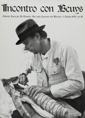 Beuys Joseph, 6 exhibition posters: Tabernakel, Louisiana, 1970; Incontro con Beuys, Galleria Lucrezia De Domizio, Pescara, 1974; Ikarus Galerie, Paderborn, 1979; Ausstellung im Hause Püschel, 1979; Nationalgalerie Berlin, 1980; Städtische Galerie, Paderborn, 1981