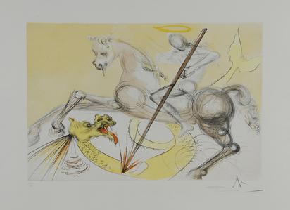 Dalí Salvador, St. Georges et le dragon