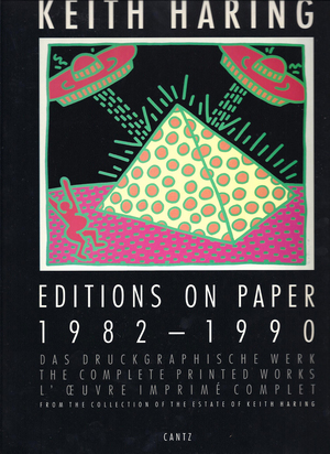 Konvolut, 12 books: Catalogue Raisonné. Klaus Littmann. Keith Haring, Editions on Paper 1982 - 1990