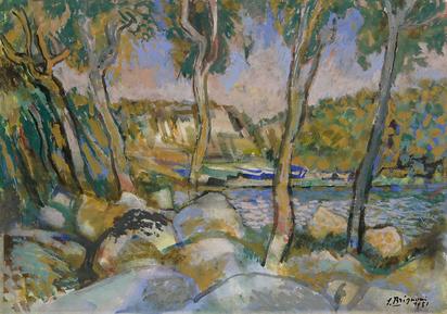 Brignoni Sergio, Landschaft mit See