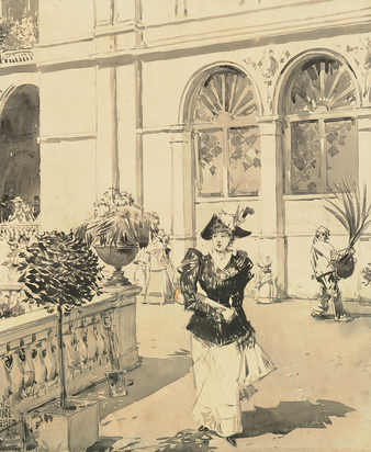 Hassam Childe, Promenade, Scene at the Columbian Exposition, Chicago